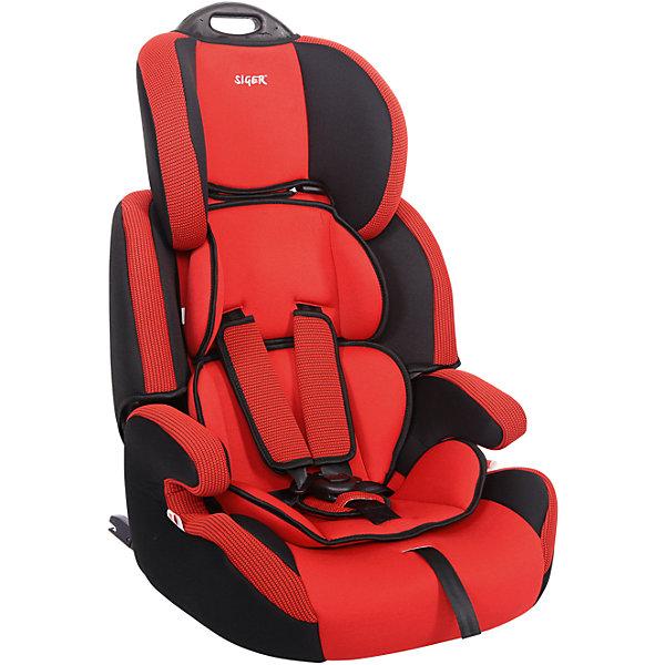 Автокресло Siger Стар Isofix 9-36 кг, красныйГруппа 1-2-3  (от 9 до 36 кг)<br>Характеристики:<br><br>• группа: 1/2/3;<br>• вес ребенка: 9-36 кг;<br>• возраст ребенка: от 1 года до 12 лет;<br>• способ крепления: Isofix;<br>• способ установки: по ходу движения автомобиля;<br>• 5-ти точечные ремни безопасности, регулируются по длине и высоте;<br>• ручка для переноски автокресла;<br>• анатомическая форма кресла;<br>• регулируемый по высоте подголовник;<br>• усиленная защита от боковых ударов;<br>• чехол снимается и стирается при температуре 30 градусов;<br>• материал: пластик, полиэстер;<br>• размер автокресла: 60х50х70 см;<br>• вес автокресла: 6,8 кг.<br><br>Автокресло группы 1-2-3 предназначено для детей в возрасте от года до 12 лет. Автокресло устанавливается на заднем сидении автомобиля лицом по ходу движения автомобиля, крепится с помощью системы Изофикс. Кресло универсальное: и годовалому крохе будет уютно в кресле, и подросток будет чувствовать себя комфортно – благодаря анатомической форме кресельной чаши, мягким подлокотникам, широким боковинам, регулируемому подголовнику, вкладышу для малышей. <br><br>Автокресло Стар Isofix 9-36 кг., SIGER, цвет красный можно купить в нашем интернет-магазине.<br>Ширина мм: 500; Глубина мм: 470; Высота мм: 730; Вес г: 6500; Возраст от месяцев: 12; Возраст до месяцев: 144; Пол: Унисекс; Возраст: Детский; SKU: 5409373;