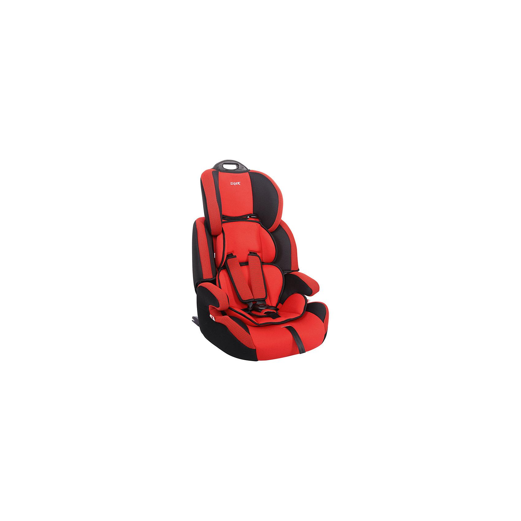 Автокресло Siger Стар Isofix 9-36 кг, красныйГруппа 1-2-3 (От 9 до 36 кг)<br>Характеристики:<br><br>• группа: 1/2/3;<br>• вес ребенка: 9-36 кг;<br>• возраст ребенка: от 1 года до 12 лет;<br>• способ крепления: Isofix;<br>• способ установки: по ходу движения автомобиля;<br>• 5-ти точечные ремни безопасности, регулируются по длине и высоте;<br>• ручка для переноски автокресла;<br>• анатомическая форма кресла;<br>• регулируемый по высоте подголовник;<br>• усиленная защита от боковых ударов;<br>• чехол снимается и стирается при температуре 30 градусов;<br>• материал: пластик, полиэстер;<br>• размер автокресла: 60х50х70 см;<br>• вес автокресла: 6,8 кг.<br><br>Автокресло группы 1-2-3 предназначено для детей в возрасте от года до 12 лет. Автокресло устанавливается на заднем сидении автомобиля лицом по ходу движения автомобиля, крепится с помощью системы Изофикс. Кресло универсальное: и годовалому крохе будет уютно в кресле, и подросток будет чувствовать себя комфортно – благодаря анатомической форме кресельной чаши, мягким подлокотникам, широким боковинам, регулируемому подголовнику, вкладышу для малышей. <br><br>Автокресло Стар Isofix 9-36 кг., SIGER, цвет красный можно купить в нашем интернет-магазине.<br><br>Ширина мм: 500<br>Глубина мм: 470<br>Высота мм: 730<br>Вес г: 6500<br>Возраст от месяцев: 12<br>Возраст до месяцев: 144<br>Пол: Унисекс<br>Возраст: Детский<br>SKU: 5409373