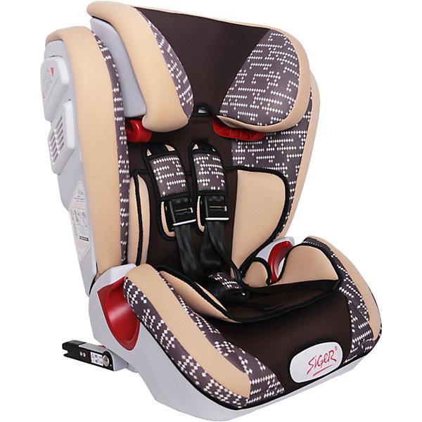 Автокресло Siger Индиго Art Isofix 9-36 кг, коричневый ромбГруппа 1-2-3  (от 9 до 36 кг)<br>Характеристики:<br><br>• группа: 1/2/3;<br>• вес ребенка: 9-36 кг;<br>• возраст ребенка: от 1 года до 12 лет;<br>• способ крепления: Isofix;<br>• способ установки: по ходу движения автомобиля;<br>• 5-ти точечные ремни безопасности, регулируются по длине и высоте;<br>• анатомическая форма кресла;<br>• вкладыш для годовалого ребенка;<br>• регулируемый по высоте подголовник;<br>• усиленная защита от боковых ударов;<br>• чехол снимается и стирается при температуре 30 градусов;<br>• материал: пластик, полиэстер;<br>• размер автокресла: 51х43,3х63,4 см;<br>• вес автокресла: 8,3 кг.<br><br>Автокресло группы 1-2-3 предназначено для детей в возрасте от года до 12 лет. Автокресло устанавливается на заднем сидении автомобиля лицом по ходу движения автомобиля, крепится с помощью системы Изофикс. Кресло универсальное: и годовалому крохе будет уютно в кресле, и подросток будет чувствовать себя комфортно – благодаря анатомической форме кресельной чаши, широким боковинам, регулируемому подголовнику, вкладышу для малышей. <br><br>Автокресло Индиго Art Isofix 9-36 кг., SIGER, коричневый ромб можно купить в нашем интернет-магазине.<br><br>Ширина мм: 430<br>Глубина мм: 511<br>Высота мм: 631<br>Вес г: 8300<br>Возраст от месяцев: 12<br>Возраст до месяцев: 144<br>Пол: Унисекс<br>Возраст: Детский<br>SKU: 5409381