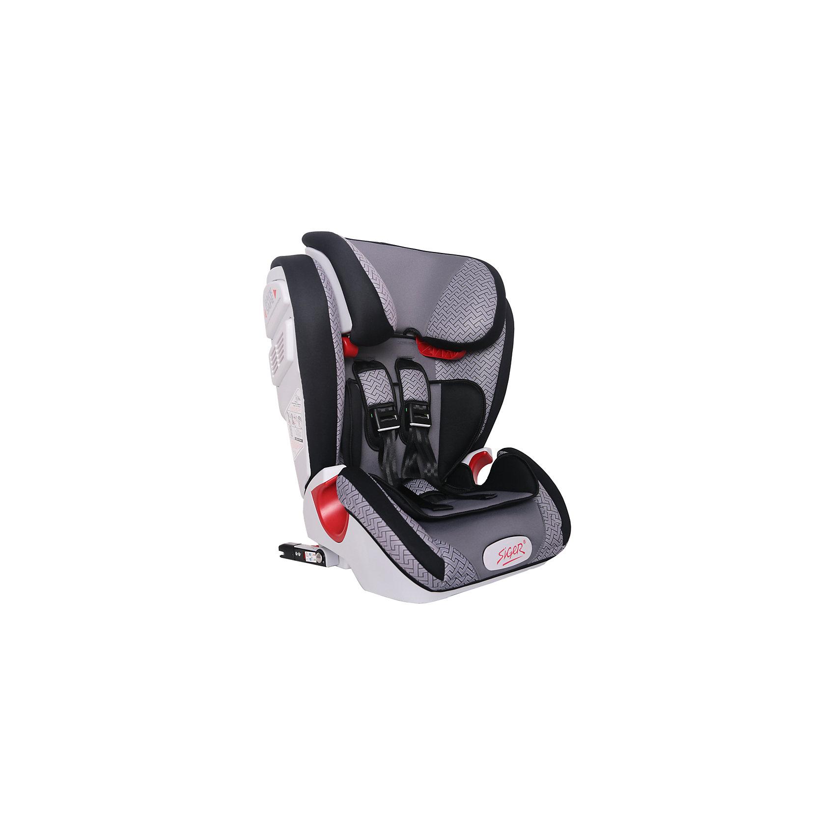Автокресло Siger Индиго Art Isofix 9-36 кг, серый лабиринтГруппа 1-2-3 (От 9 до 36 кг)<br>Характеристики:<br><br>• группа: 1/2/3;<br>• вес ребенка: 9-36 кг;<br>• возраст ребенка: от 1 года до 12 лет;<br>• способ крепления: Isofix;<br>• способ установки: по ходу движения автомобиля;<br>• 5-ти точечные ремни безопасности, регулируются по длине и высоте;<br>• анатомическая форма кресла;<br>• вкладыш для годовалого ребенка;<br>• регулируемый по высоте подголовник;<br>• усиленная защита от боковых ударов;<br>• чехол снимается и стирается при температуре 30 градусов;<br>• материал: пластик, полиэстер;<br>• размер автокресла: 51х43,3х63,4 см;<br>• вес автокресла: 8,3 кг.<br><br>Автокресло группы 1-2-3 предназначено для детей в возрасте от года до 12 лет. Автокресло устанавливается на заднем сидении автомобиля лицом по ходу движения автомобиля, крепится с помощью системы Изофикс. Кресло универсальное: и годовалому крохе будет уютно в кресле, и подросток будет чувствовать себя комфортно – благодаря анатомической форме кресельной чаши, широким боковинам, регулируемому подголовнику, вкладышу для малышей. <br><br>Автокресло Индиго Art Isofix 9-36 кг., SIGER, серый лабиринт можно купить в нашем интернет-магазине.<br><br>Ширина мм: 430<br>Глубина мм: 511<br>Высота мм: 631<br>Вес г: 8300<br>Возраст от месяцев: 12<br>Возраст до месяцев: 144<br>Пол: Унисекс<br>Возраст: Детский<br>SKU: 5409382