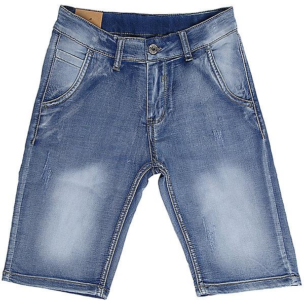 Шорты джинсовые для мальчика LuminosoДжинсовая одежда<br>Джинсовые шорты для мальчика. Застегиваются на молнию и пуговицу.   В боковой части пояса находятся вшитые эластичные ленты, регулирующие посадку по талии.<br>Состав:<br>98%хлопок 2%эластан<br><br>Ширина мм: 191<br>Глубина мм: 10<br>Высота мм: 175<br>Вес г: 273<br>Цвет: синий<br>Возраст от месяцев: 96<br>Возраст до месяцев: 108<br>Пол: Мужской<br>Возраст: Детский<br>Размер: 134,164,158,152,146,140<br>SKU: 5409475