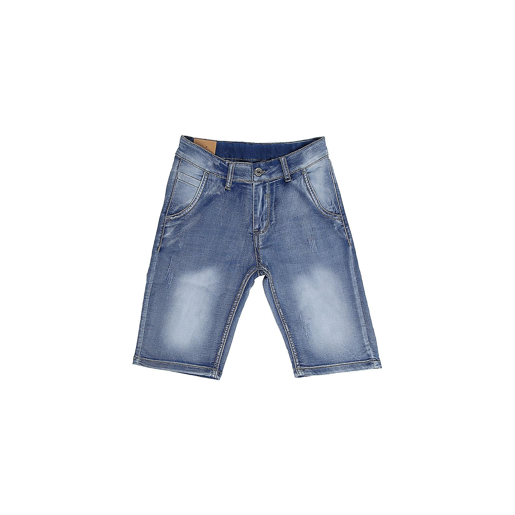Шорты для мальчика LuminosoДжинсовые шорты для мальчика. Застегиваются на молнию и пуговицу.   В боковой части пояса находятся вшитые эластичные ленты, регулирующие посадку по талии.<br>Состав:<br>98%хлопок 2%эластан<br><br>Ширина мм: 191<br>Глубина мм: 10<br>Высота мм: 175<br>Вес г: 273<br>Цвет: синий<br>Возраст от месяцев: 156<br>Возраст до месяцев: 168<br>Пол: Мужской<br>Возраст: Детский<br>Размер: 164,134,140,146,152,158<br>SKU: 5409475