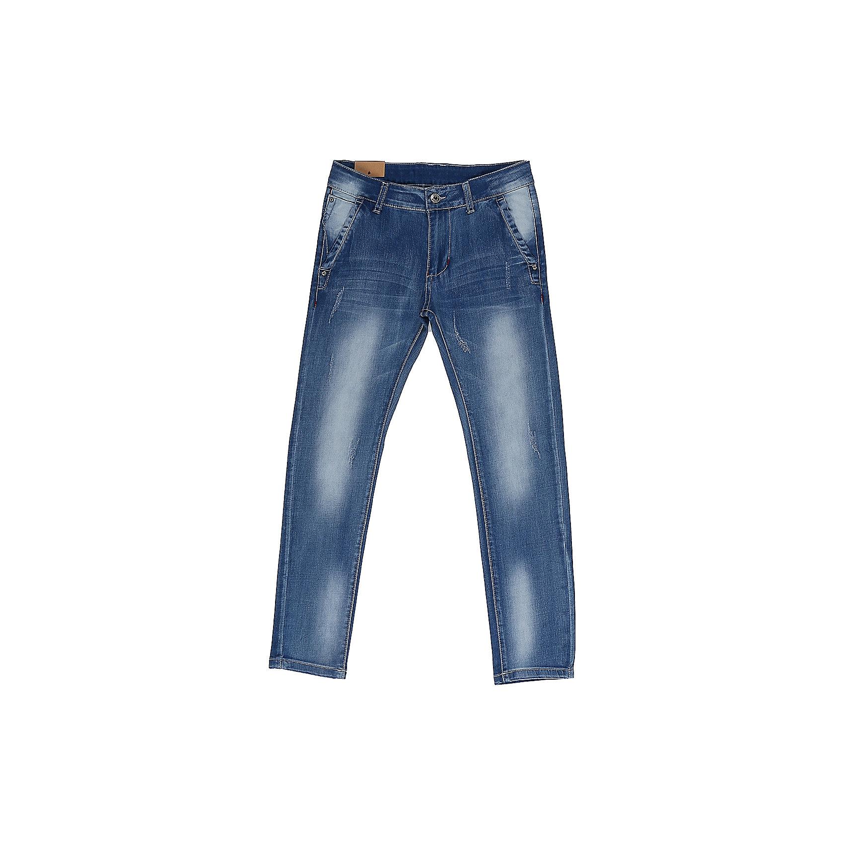 Джинсы для мальчика LuminosoДжинсовая одежда<br>Джинсы  для мальчика с оригинальной варкой. Зауженный крой, средняя посадка. Застегиваются на молнию и крючок. Шлевки на поясе рассчитаны под ремень. В боковой части пояса находятся вшитые эластичные ленты, регулирующие посадку по талии.<br>Состав:<br>98%хлопок 2%эластан<br><br>Ширина мм: 215<br>Глубина мм: 88<br>Высота мм: 191<br>Вес г: 336<br>Цвет: синий<br>Возраст от месяцев: 96<br>Возраст до месяцев: 108<br>Пол: Мужской<br>Возраст: Детский<br>Размер: 134,140,146,152,158,164<br>SKU: 5409503