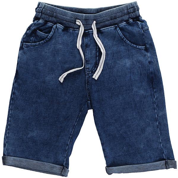 Шорты джинсовые для мальчика LuminosoДжинсовая одежда<br>Комфортные трикотажные шорты, имитирующие вываренную джинсу. Подходят для активных занятий или летних прогулок на свежем воздухе. На поясе имеется широкая резинка и контрастный белый шнурок. Низ выполнен с подворотами. По бокам предусмотрены врезные карманы.<br>Состав:<br>95%хлопок 5%эластан<br>Ширина мм: 191; Глубина мм: 10; Высота мм: 175; Вес г: 273; Цвет: синий; Возраст от месяцев: 120; Возраст до месяцев: 132; Пол: Мужской; Возраст: Детский; Размер: 146,140,134,164,158,152; SKU: 5409510;