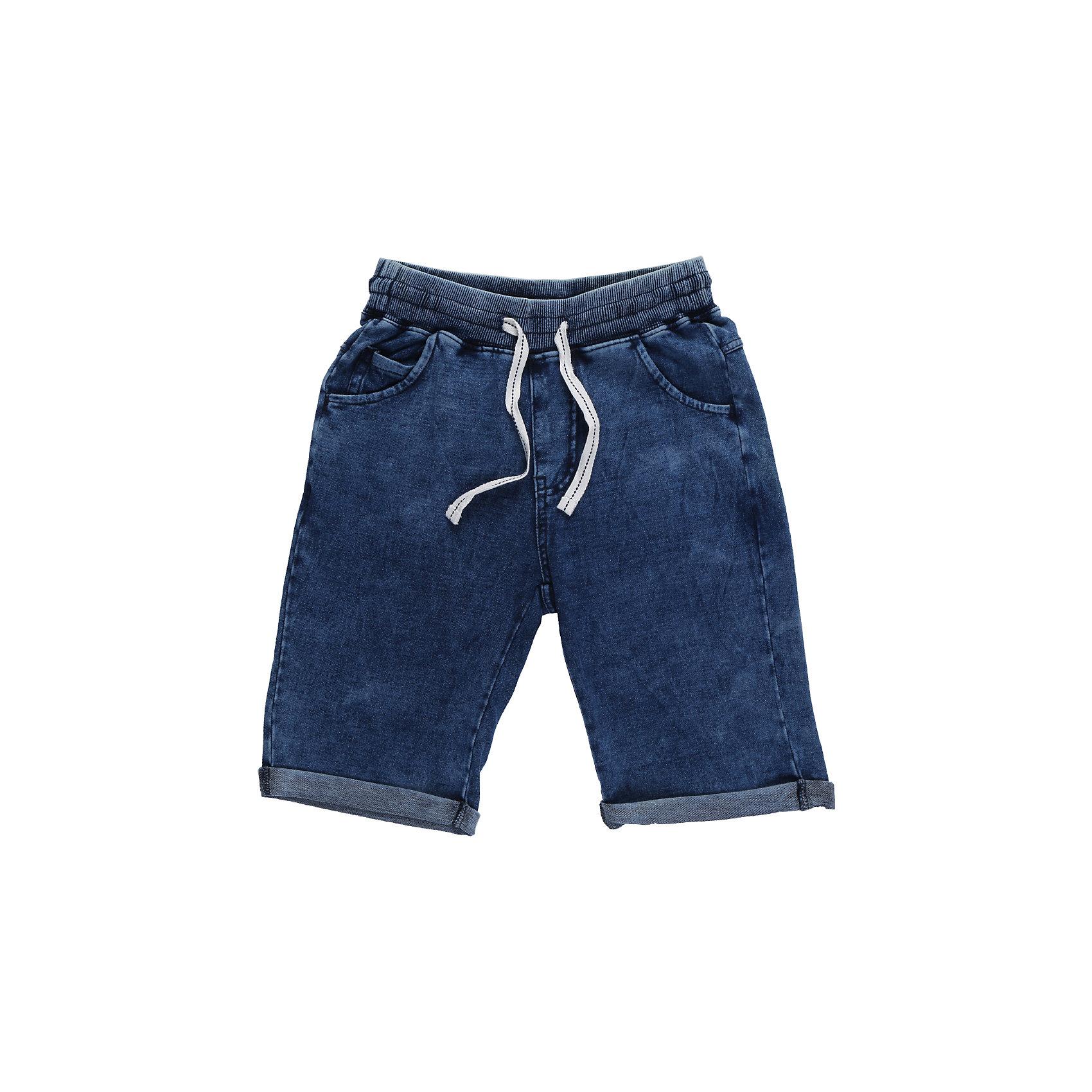 Шорты джинсовые для мальчика LuminosoШорты, бриджи, капри<br>Комфортные трикотажные шорты, имитирующие вываренную джинсу. Подходят для активных занятий или летних прогулок на свежем воздухе. На поясе имеется широкая резинка и контрастный белый шнурок. Низ выполнен с подворотами. По бокам предусмотрены врезные карманы.<br>Состав:<br>95%хлопок 5%эластан<br><br>Ширина мм: 191<br>Глубина мм: 10<br>Высота мм: 175<br>Вес г: 273<br>Цвет: синий<br>Возраст от месяцев: 120<br>Возраст до месяцев: 132<br>Пол: Мужской<br>Возраст: Детский<br>Размер: 146,134,140,152,158,164<br>SKU: 5409510