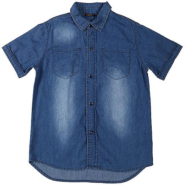 Рубашка джинсовая для мальчика LuminosoДжинсовая одежда<br>Хлопковая рубашка из тонкой ткани под джинсу. Застежка на кнопках. На полочках два накладных карманы. Отложной воротничок.<br>Состав:<br>100%хлопок<br><br>Ширина мм: 174<br>Глубина мм: 10<br>Высота мм: 169<br>Вес г: 157<br>Цвет: синий<br>Возраст от месяцев: 108<br>Возраст до месяцев: 120<br>Пол: Мужской<br>Возраст: Детский<br>Размер: 140,134,164,158,152,146<br>SKU: 5409531