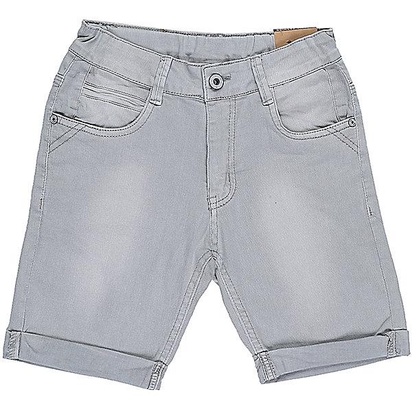 Бриджи для мальчика LuminosoДжинсовая одежда<br>Джинсовые бриджи для мальчика с подворотом. Застегиваются на молнию и пуговицу. Имеют зауженный крой, среднюю посадку. Шлевки на поясе рассчитаны под ремень. В боковой части пояса находятся вшитые эластичные ленты, регулирующие посадку по талии.<br>Состав:<br>98%хлопок 2%эластан<br>Ширина мм: 191; Глубина мм: 10; Высота мм: 175; Вес г: 273; Цвет: серый; Возраст от месяцев: 108; Возраст до месяцев: 120; Пол: Мужской; Возраст: Детский; Размер: 140,134,164,158,152,146; SKU: 5409692;
