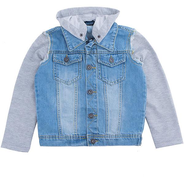 Куртка джинсовая для мальчика LuminosoДжинсовая одежда<br>Джинсовая куртка  для мальчика с оригинальной варкой. Рукава и капюшон  выполнены из трикотажной ткани. Съемный капюшон. Куртка застегивается на пуговицы, спереди два накладных кармана. Воротник отложной.<br>Состав:<br>100%хлопок<br><br>Ширина мм: 356<br>Глубина мм: 10<br>Высота мм: 245<br>Вес г: 519<br>Цвет: голубой<br>Возраст от месяцев: 132<br>Возраст до месяцев: 144<br>Пол: Мужской<br>Возраст: Детский<br>Размер: 152,134,140,146,158,164<br>SKU: 5409699
