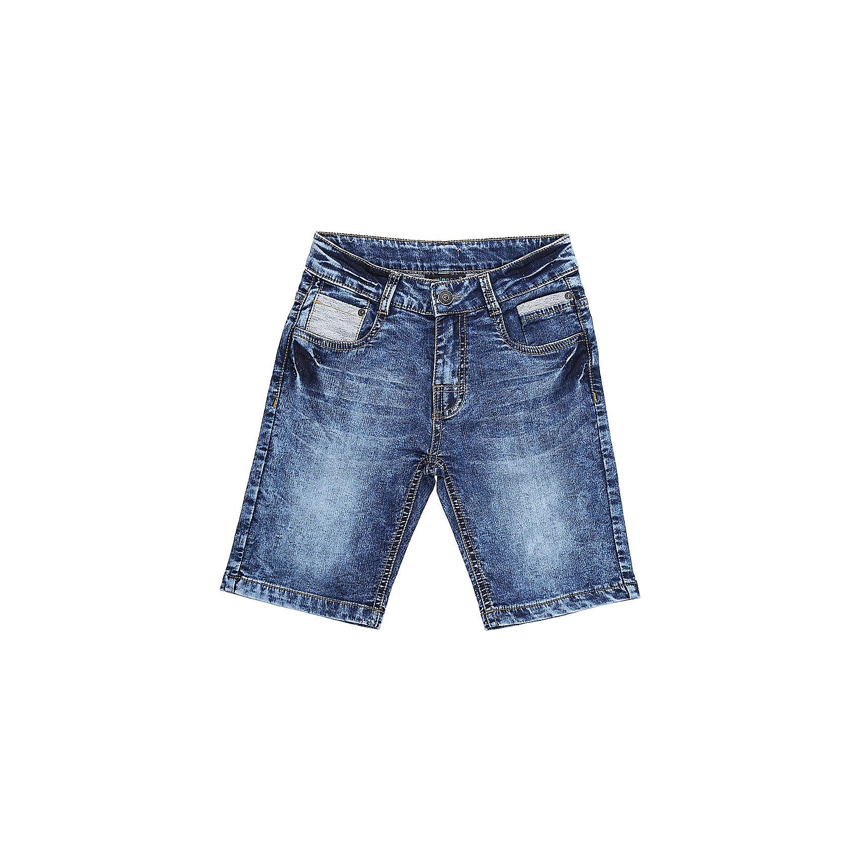 Шорты джинсовые для мальчика LuminosoШорты, бриджи, капри<br>Джинсовые шорты для мальчика. Застегиваются на молнию и пуговицу.   В боковой части пояса находятся вшитые эластичные ленты, регулирующие посадку по талии.<br>Состав:<br>98%хлопок 2%эластан<br><br>Ширина мм: 191<br>Глубина мм: 10<br>Высота мм: 175<br>Вес г: 273<br>Цвет: синий<br>Возраст от месяцев: 132<br>Возраст до месяцев: 144<br>Пол: Мужской<br>Возраст: Детский<br>Размер: 152,134,140,146,158,164<br>SKU: 5409706