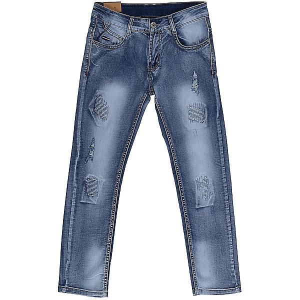 Джинсы для мальчика LuminosoДжинсы<br>Джинсы  для мальчика с оригинальной варкой. Декорированы  потертости и эффектом рваной джинсы. Зауженный крой, средняя посадка. Застегиваются на молнию и пуговицу. Шлевки на поясе рассчитаны под ремень. В боковой части пояса находятся вшитые эластичные ленты, регулирующие посадку по талии.<br>Состав:<br>98%хлопок 2%эластан<br>Ширина мм: 215; Глубина мм: 88; Высота мм: 191; Вес г: 336; Цвет: синий; Возраст от месяцев: 108; Возраст до месяцев: 120; Пол: Мужской; Возраст: Детский; Размер: 140,134,164,158,152,146; SKU: 5409723;