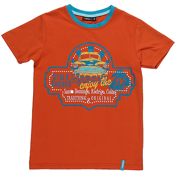 Футболка для мальчика LuminosoФутболки, поло и топы<br>Стильная футболка из трикотажной ткани для мальчика с коротким рукавом. Декорирована ярким принтом. Горловина выделена контрастным кантом.<br>Состав:<br>95%хлопок 5%эластан<br><br>Ширина мм: 199<br>Глубина мм: 10<br>Высота мм: 161<br>Вес г: 151<br>Цвет: оранжевый<br>Возраст от месяцев: 96<br>Возраст до месяцев: 108<br>Пол: Мужской<br>Возраст: Детский<br>Размер: 134,140,164,158,152,146<br>SKU: 5409782