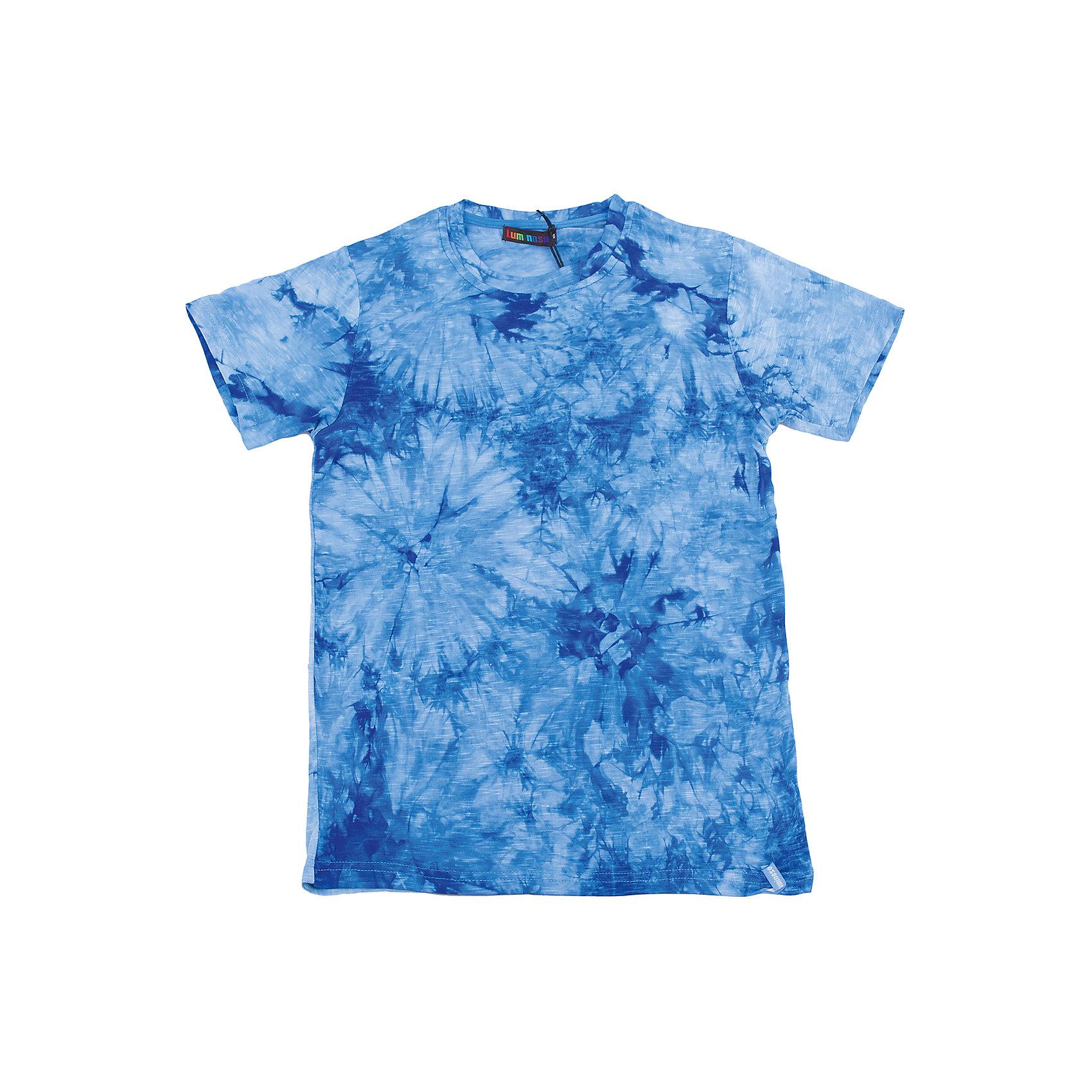 Футболка для мальчика LuminosoФутболки, поло и топы<br>Яркая летняя футболка оригинального дизайна для мальчика. Из мягкого, качественного трикотажа.<br>Состав:<br>95% хлопок 5% эластан<br><br>Ширина мм: 199<br>Глубина мм: 10<br>Высота мм: 161<br>Вес г: 151<br>Цвет: синий<br>Возраст от месяцев: 120<br>Возраст до месяцев: 132<br>Пол: Мужской<br>Возраст: Детский<br>Размер: 146,134,140,152,158,164<br>SKU: 5409817