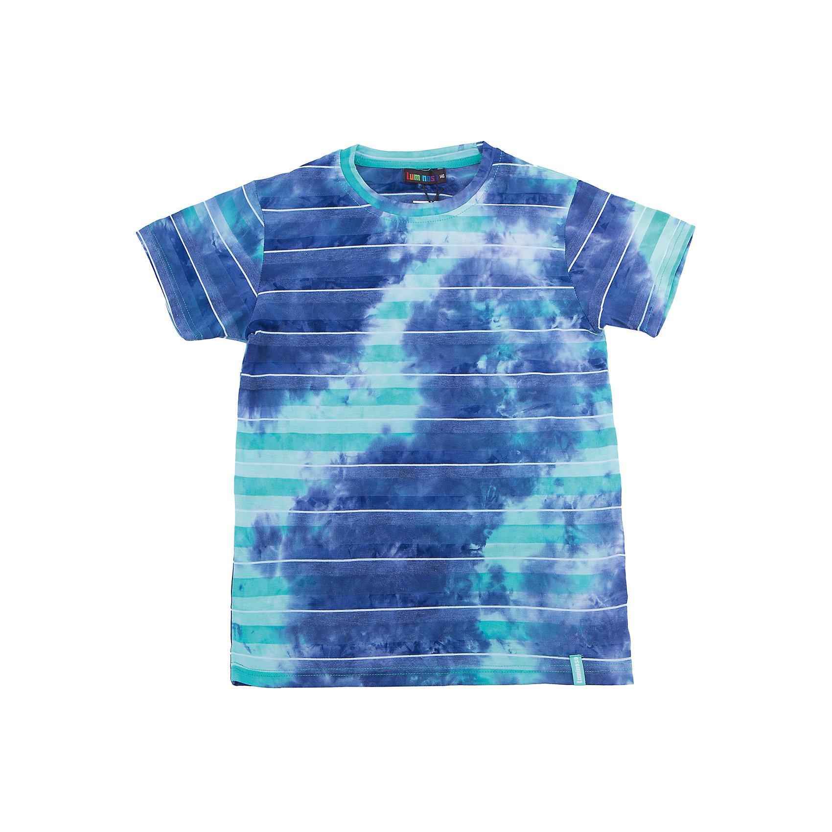 Футболка для мальчика LuminosoФутболки, поло и топы<br>Яркая летняя футболка оригинального дизайна для мальчика. Из мягкого, качественного трикотажа.<br>Состав:<br>95% хлопок 5% эластан<br><br>Ширина мм: 199<br>Глубина мм: 10<br>Высота мм: 161<br>Вес г: 151<br>Цвет: белый<br>Возраст от месяцев: 96<br>Возраст до месяцев: 108<br>Пол: Мужской<br>Возраст: Детский<br>Размер: 134,140,146,152,158,164<br>SKU: 5409824