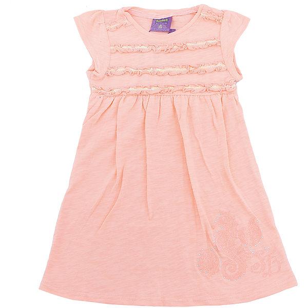 Платье для девочки Sweet BerryЛетние платья и сарафаны<br>Платья для девочки из трикотажного полотна свободного кроя. Декорированное оригинальной сборкой.<br>Состав:<br>100%хлопок<br><br>Ширина мм: 236<br>Глубина мм: 16<br>Высота мм: 184<br>Вес г: 177<br>Цвет: оранжевый<br>Возраст от месяцев: 24<br>Возраст до месяцев: 36<br>Пол: Женский<br>Возраст: Детский<br>Размер: 98,104,128,122,116,110<br>SKU: 5409831