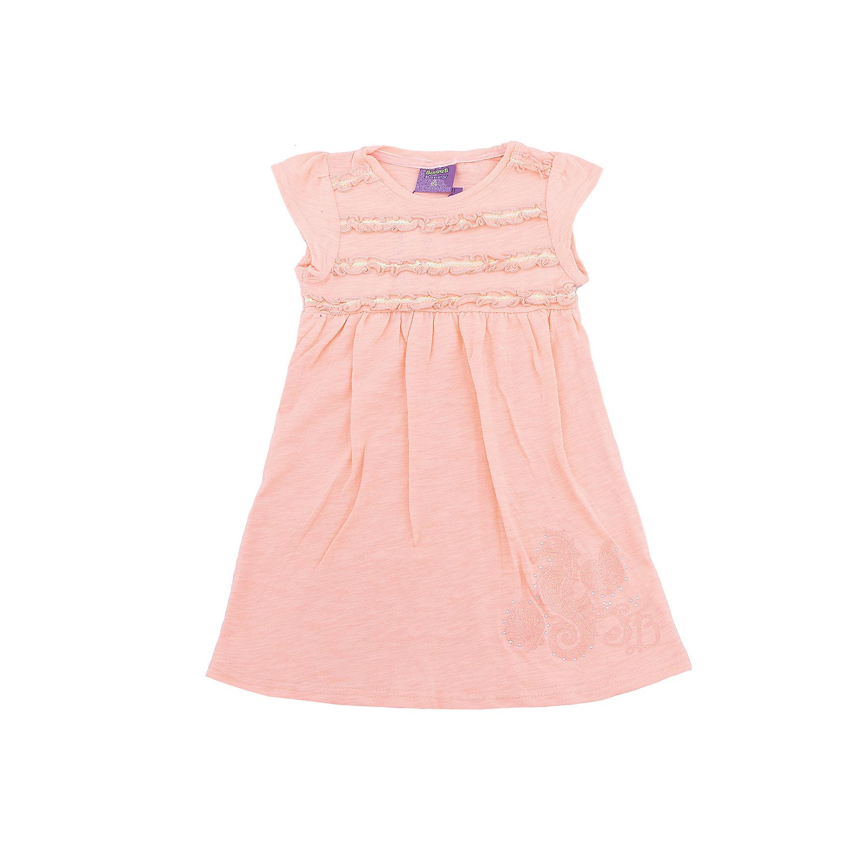 Платье для девочки Sweet BerryПлатья и сарафаны<br>Платья для девочки из трикотажного полотна свободного кроя. Декорированное оригинальной сборкой.<br>Состав:<br>100%хлопок<br><br>Ширина мм: 236<br>Глубина мм: 16<br>Высота мм: 184<br>Вес г: 177<br>Цвет: оранжевый<br>Возраст от месяцев: 36<br>Возраст до месяцев: 48<br>Пол: Женский<br>Возраст: Детский<br>Размер: 104,98,110,116,122,128<br>SKU: 5409831