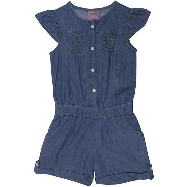 Комбинезон джинсовый для девочки Sweet BerryДжинсовая одежда<br>Комбинезон из тонкой хлопковой ткани под джинсу для девочки. Рукава крылышки. Талия собрана на мягкую резинку Застежка на кнопках.<br>Состав:<br>100%хлопок<br>Ширина мм: 215; Глубина мм: 88; Высота мм: 191; Вес г: 336; Цвет: синий; Возраст от месяцев: 24; Возраст до месяцев: 36; Пол: Женский; Возраст: Детский; Размер: 98,104,128,122,116,110; SKU: 5409866;
