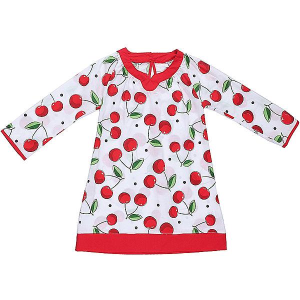 Платье для девочки Sweet BerryЛетние платья и сарафаны<br>Хлопковое платье-туника для жаркого лета из принтованной ткани.  Декорированно контрастной отделкой горловины и низа изделия.<br>Состав:<br>100% хлопок<br><br>Ширина мм: 236<br>Глубина мм: 16<br>Высота мм: 184<br>Вес г: 177<br>Цвет: белый<br>Возраст от месяцев: 48<br>Возраст до месяцев: 60<br>Пол: Женский<br>Возраст: Детский<br>Размер: 104,140,128,116,110<br>SKU: 5409921