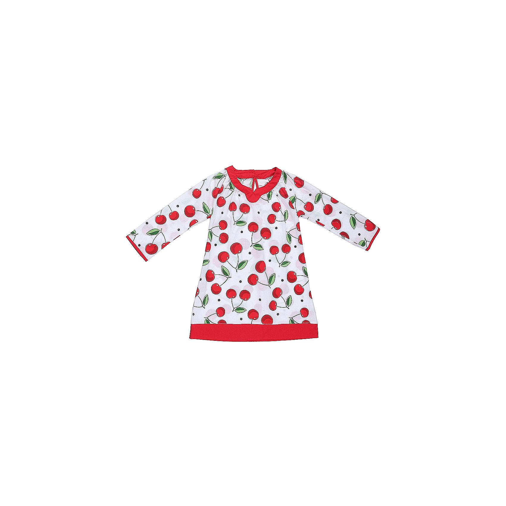 Платье для девочки Sweet BerryХлопковое платье-туника для жаркого лета из принтованной ткани.  Декорированно контрастной отделкой горловины и низа изделия.<br>Состав:<br>100% хлопок<br><br>Ширина мм: 236<br>Глубина мм: 16<br>Высота мм: 184<br>Вес г: 177<br>Цвет: разноцветный<br>Возраст от месяцев: 36<br>Возраст до месяцев: 48<br>Пол: Женский<br>Возраст: Детский<br>Размер: 104,110,116,128,140<br>SKU: 5409921