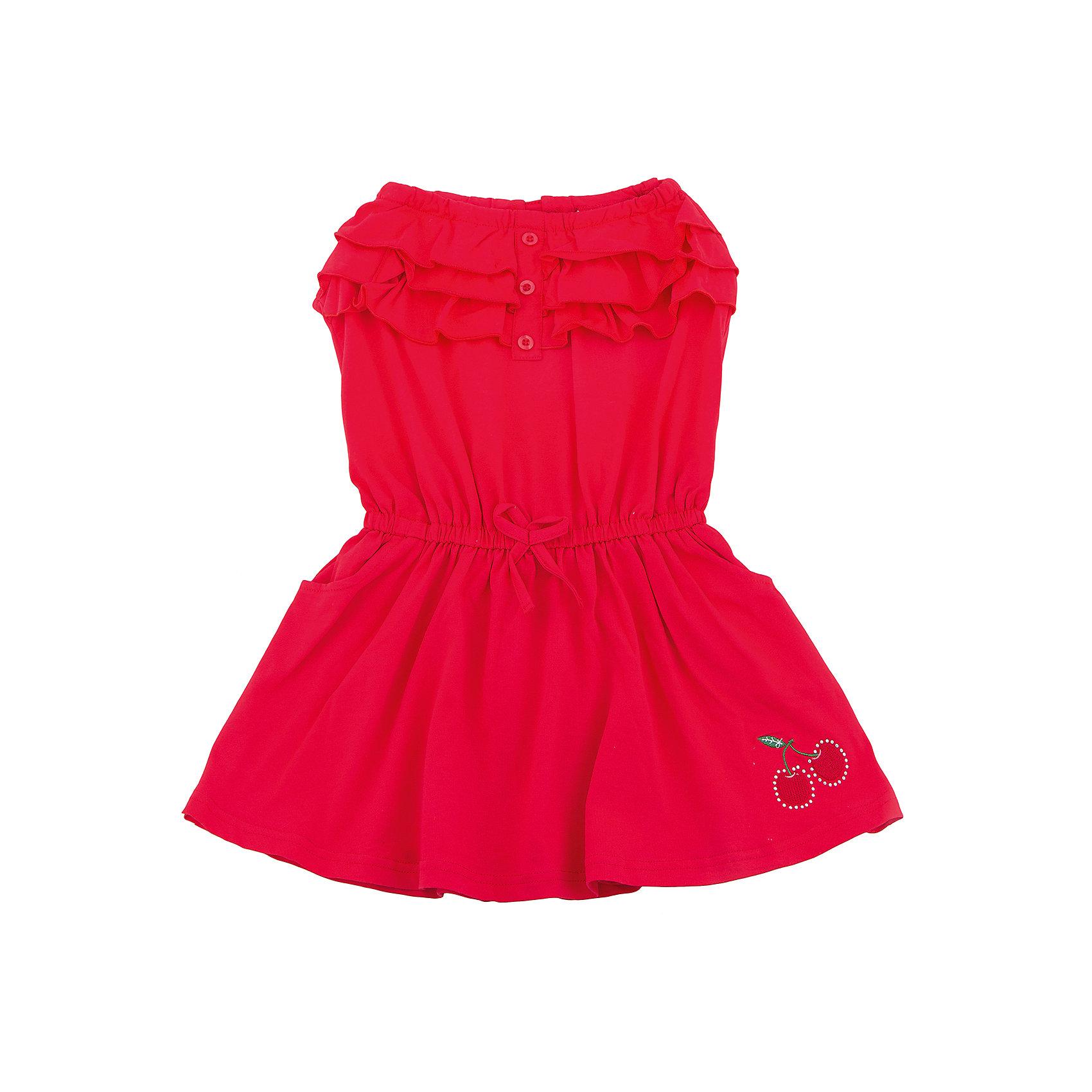 Сарафан для девочки Sweet BerryЛетние платья и сарафаны<br>Яркий трикотажный сарафан для девочки. Верх изделия декорирован многослойными воланами и пуговками. Талия собрана на мягкую резинкук. Низ изделия декорирован вышивкой.<br>Состав:<br>95%хлопок 5%эластан<br><br>Ширина мм: 236<br>Глубина мм: 16<br>Высота мм: 184<br>Вес г: 177<br>Цвет: красный<br>Возраст от месяцев: 36<br>Возраст до месяцев: 48<br>Пол: Женский<br>Возраст: Детский<br>Размер: 104,98,110,116,122,128<br>SKU: 5409982