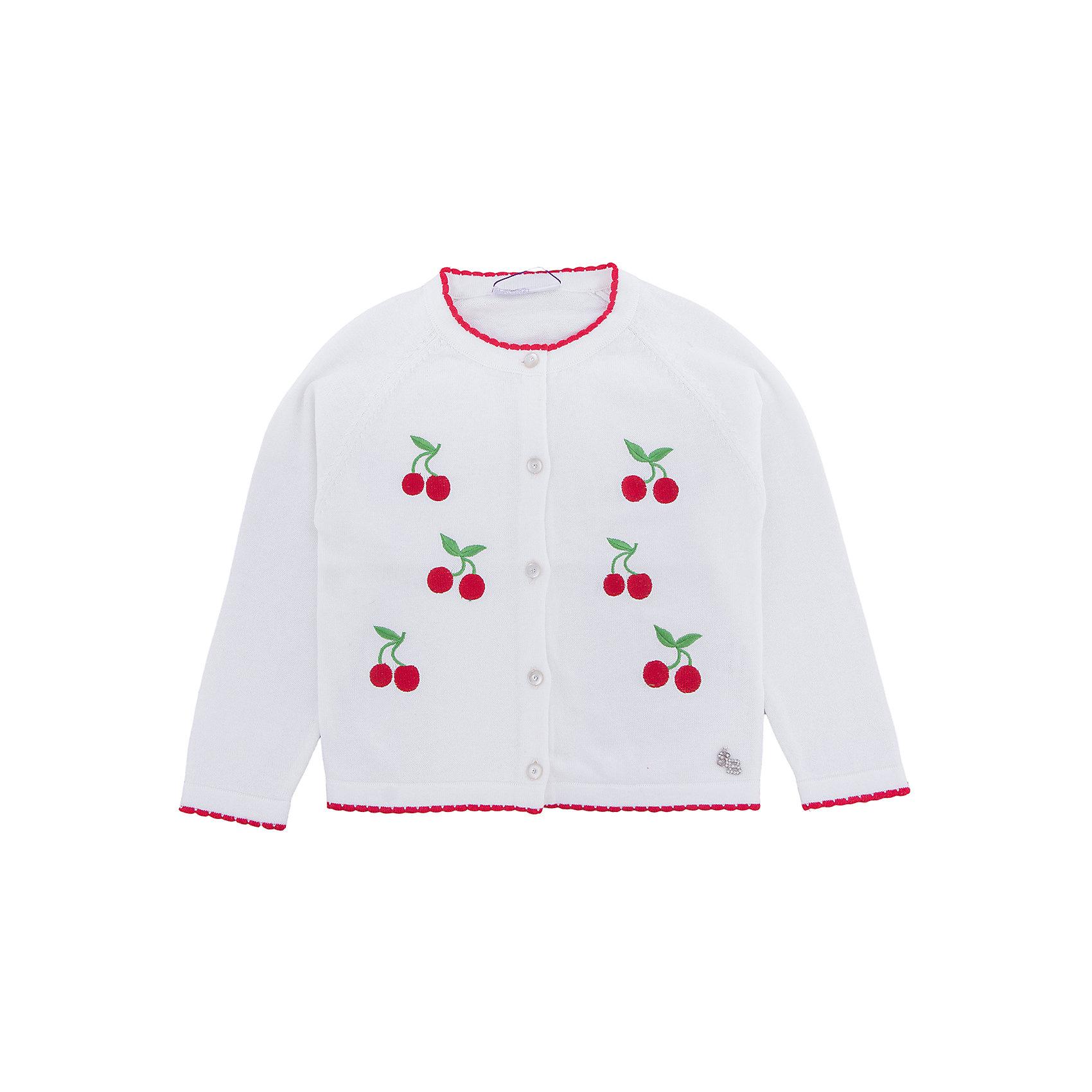 Кардиган для девочки Sweet BerryСвитера и кардиганы<br>Вязаный жакет для девочки с длинным рукавом. Декорирован яркой вышивкой. Застегивается на пуговки.<br>Состав:<br>100% хлопок<br><br>Ширина мм: 190<br>Глубина мм: 74<br>Высота мм: 229<br>Вес г: 236<br>Цвет: белый<br>Возраст от месяцев: 36<br>Возраст до месяцев: 48<br>Пол: Женский<br>Возраст: Детский<br>Размер: 104,98,110,116,122,128<br>SKU: 5409996