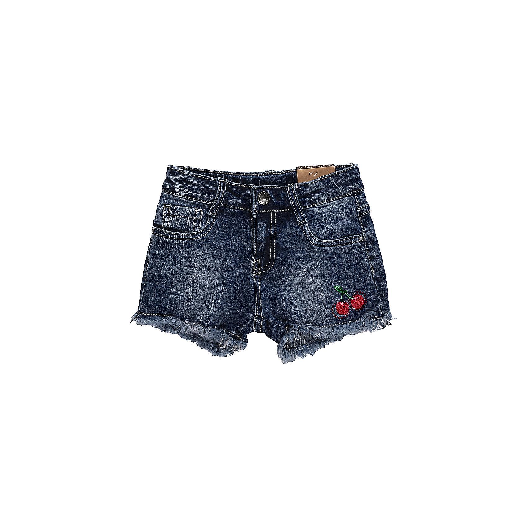 Шорты джинсовые для девочки Sweet BerryДжинсовая одежда<br>Джинсовые шорты для девочки. Декорированы яркой вышивкой. Застегиваются на молнию и пуговицу.   В боковой части пояса находятся вшитые эластичные ленты, регулирующие посадку по талии.<br>Состав:<br>98%хлопок 2%эластан<br><br>Ширина мм: 191<br>Глубина мм: 10<br>Высота мм: 175<br>Вес г: 273<br>Цвет: синий<br>Возраст от месяцев: 36<br>Возраст до месяцев: 48<br>Пол: Женский<br>Возраст: Детский<br>Размер: 104,98,110,116,122,128<br>SKU: 5410010