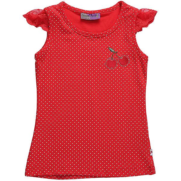 Майка для девочки Sweet BerryФутболки, поло и топы<br>Трикотажная майка-топиз принтованной ткани для девочки.Рукава-крылышки сделаны из мягкого кружева, низ изделия декорирован яркой вышивкой.<br>Состав:<br>95%хлопок 5%эластан<br>Ширина мм: 199; Глубина мм: 10; Высота мм: 161; Вес г: 151; Цвет: красный; Возраст от месяцев: 72; Возраст до месяцев: 84; Пол: Женский; Возраст: Детский; Размер: 122,104,128,116,110,98; SKU: 5410024;
