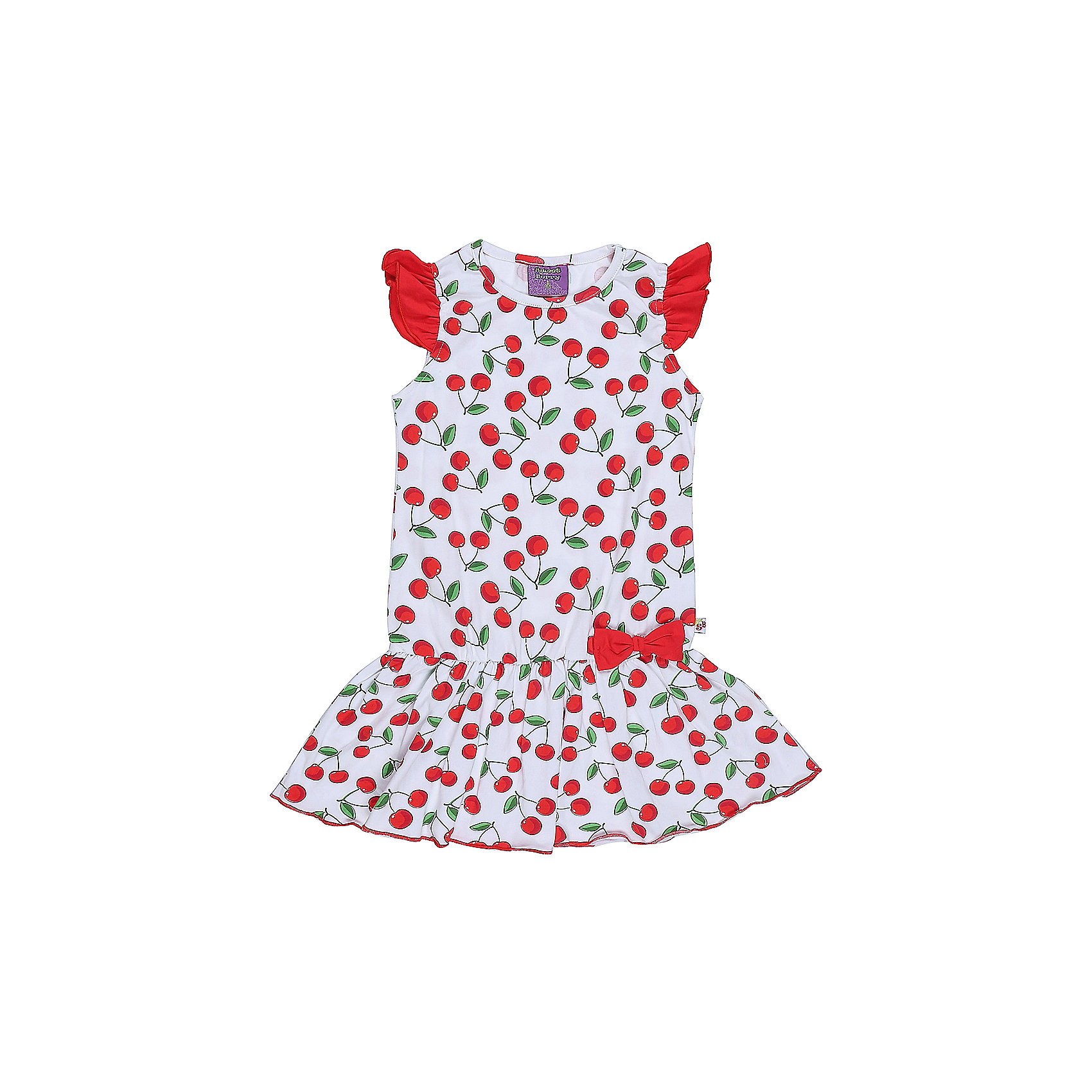 Платье для девочки Sweet BerryЯркое трикотажное платье для девочки из принтованной ткани. Низ изделия декорирован воланом и ярким бантиком.<br>Состав:<br>95%хлопок 5%эластан<br><br>Ширина мм: 236<br>Глубина мм: 16<br>Высота мм: 184<br>Вес г: 177<br>Цвет: разноцветный<br>Возраст от месяцев: 36<br>Возраст до месяцев: 48<br>Пол: Женский<br>Возраст: Детский<br>Размер: 104,122,98,110,116,128<br>SKU: 5410052