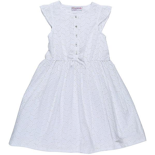 Платье для девочки Sweet BerryОдежда<br>Хлопковое платье для девочки из вышитого полотна. Декорированно пуговками и маленьким бантиком. Хлопковый подклад. Приталенный крой.<br>Состав:<br>Верх: 100% хлопок, Подкладка: 100%хлопок<br><br>Ширина мм: 236<br>Глубина мм: 16<br>Высота мм: 184<br>Вес г: 177<br>Цвет: белый<br>Возраст от месяцев: 24<br>Возраст до месяцев: 36<br>Пол: Женский<br>Возраст: Детский<br>Размер: 98,104,128,122,116,110<br>SKU: 5410066