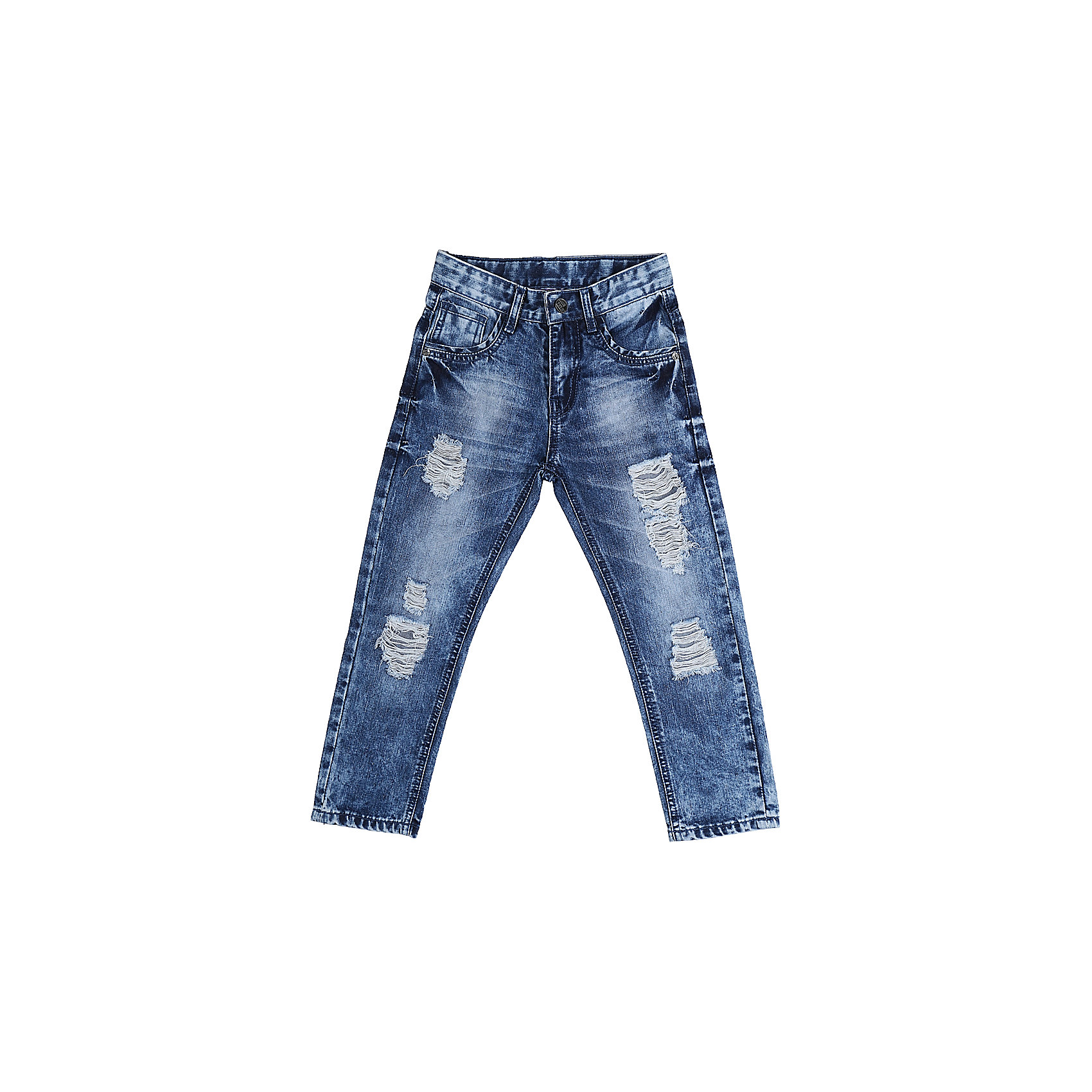 Джинсы для мальчика Sweet BerryДжинсовая одежда<br>Джинсы  для мальчика с оригинальной варкой. Декорированы эффектом рваной джинсы. Зауженный крой, средняя посадка. Застегиваются на молнию и пуговицу. Шлевки на поясе рассчитаны под ремень. В боковой части пояса находятся вшитые эластичные ленты, регулирующие посадку по талии.<br>Состав:<br>100%хлопок<br><br>Ширина мм: 215<br>Глубина мм: 88<br>Высота мм: 191<br>Вес г: 336<br>Цвет: синий<br>Возраст от месяцев: 36<br>Возраст до месяцев: 48<br>Пол: Мужской<br>Возраст: Детский<br>Размер: 116,122,128,104,98,110<br>SKU: 5410194