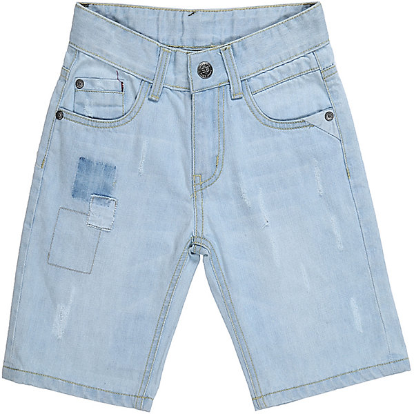 Шорты джинсовые для мальчика Sweet BerryШорты, бриджи, капри<br>Джинсовые шорты для мальчика. Застегиваются на молнию и пуговицу.   В боковой части пояса находятся вшитые эластичные ленты, регулирующие посадку по талии.<br>Состав:<br>100%хлопок<br><br>Ширина мм: 191<br>Глубина мм: 10<br>Высота мм: 175<br>Вес г: 273<br>Цвет: голубой<br>Возраст от месяцев: 24<br>Возраст до месяцев: 36<br>Пол: Мужской<br>Возраст: Детский<br>Размер: 98,104,128,122,116,110<br>SKU: 5410201