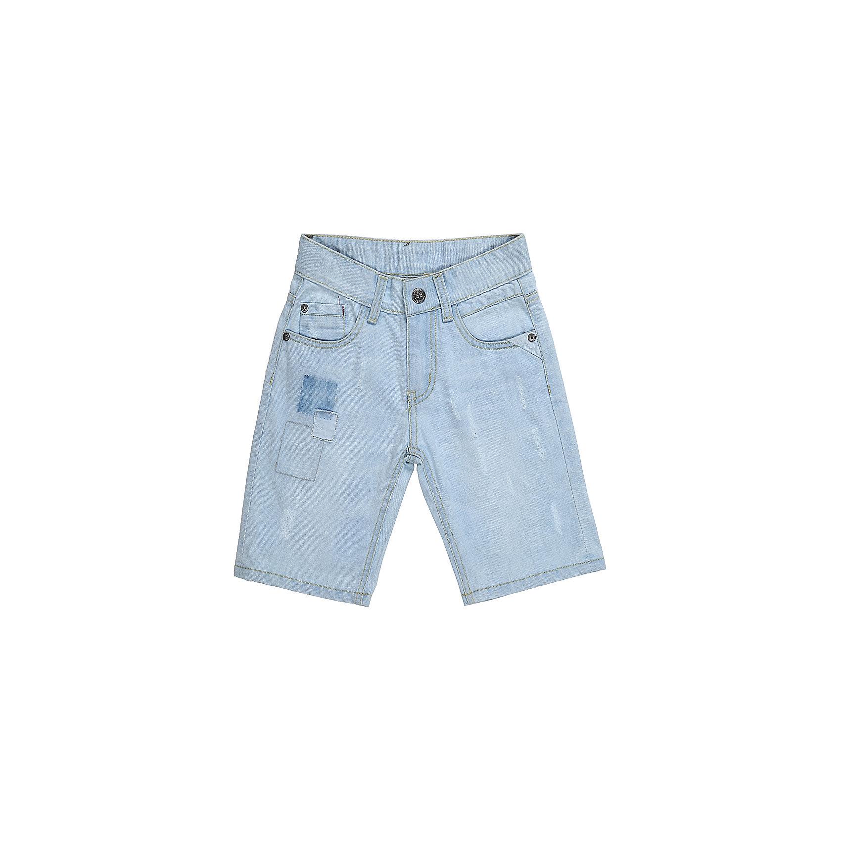 Шорты джинсовые для мальчика Sweet BerryДжинсовая одежда<br>Джинсовые шорты для мальчика. Застегиваются на молнию и пуговицу.   В боковой части пояса находятся вшитые эластичные ленты, регулирующие посадку по талии.<br>Состав:<br>100%хлопок<br><br>Ширина мм: 191<br>Глубина мм: 10<br>Высота мм: 175<br>Вес г: 273<br>Цвет: голубой<br>Возраст от месяцев: 36<br>Возраст до месяцев: 48<br>Пол: Мужской<br>Возраст: Детский<br>Размер: 104,116,122,128,98,110<br>SKU: 5410201