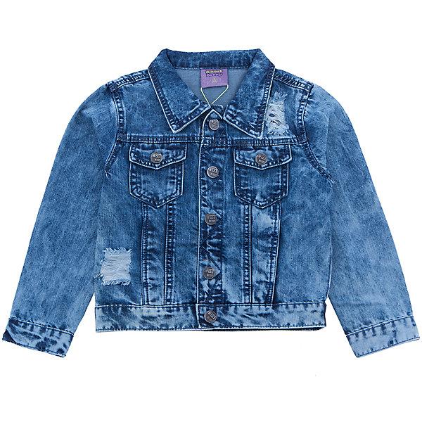 Куртка джинсовая для мальчика Sweet BerryДжинсовая одежда<br>Джинсовая куртка  для мальчика с оригинальной варкой. Декорированна потертостями и эффектом рваной джинсы. Куртка застегивается на кнопки, спереди два накладных кармана. Воротник отложной.<br>Состав:<br>100%хлопок<br>Ширина мм: 356; Глубина мм: 10; Высота мм: 245; Вес г: 519; Цвет: синий; Возраст от месяцев: 24; Возраст до месяцев: 36; Пол: Мужской; Возраст: Детский; Размер: 98,104,128,122,116,110; SKU: 5410208;