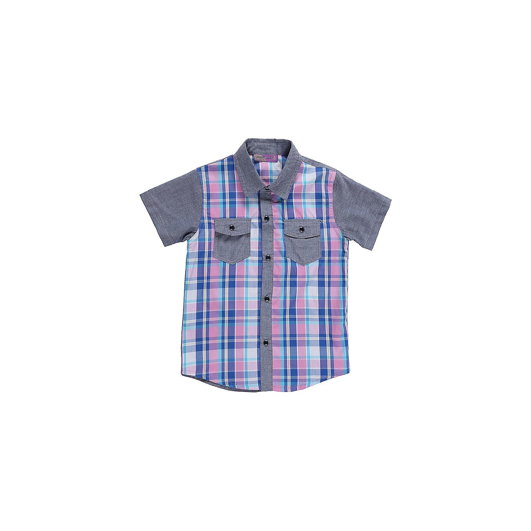 Рубашка для мальчика Sweet BerryБлузки и рубашки<br>Текстильная рубашка из хлопка в клетку для мальчика. Короткий рукав, накладной карман на левой полочке. Застегивается на кнопки. Отложной воротничок.<br>Состав:<br>100%хлопок<br><br>Ширина мм: 174<br>Глубина мм: 10<br>Высота мм: 169<br>Вес г: 157<br>Цвет: разноцветный<br>Возраст от месяцев: 36<br>Возраст до месяцев: 48<br>Пол: Мужской<br>Возраст: Детский<br>Размер: 104,98,110,116,122,128<br>SKU: 5410271