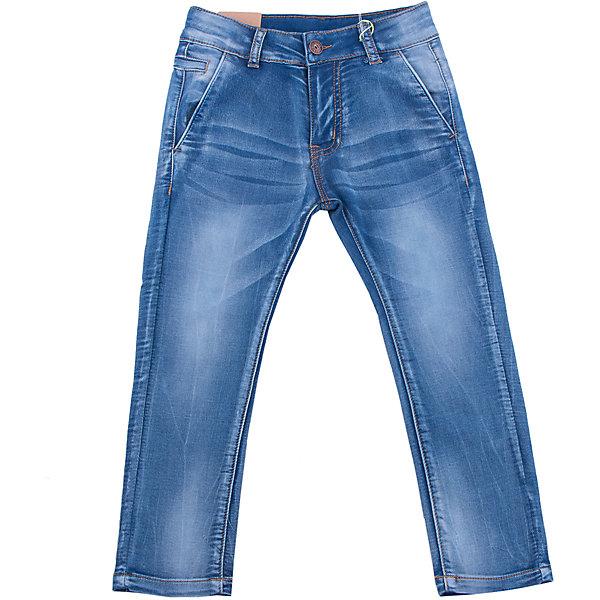 Джинсы для мальчика Sweet BerryДжинсовая одежда<br>Джинсы  для мальчика с оригинальной варкой. Декорированы эффектом потертости. Зауженный крой, средняя посадка. Застегиваются на молнию и пуговицу. Шлевки на поясе рассчитаны под ремень. В боковой части пояса находятся вшитые эластичные ленты, регулирующие посадку по талии.<br>Состав:<br>98%хлопок 2%эластан<br><br>Ширина мм: 215<br>Глубина мм: 88<br>Высота мм: 191<br>Вес г: 336<br>Цвет: синий<br>Возраст от месяцев: 24<br>Возраст до месяцев: 36<br>Пол: Мужской<br>Возраст: Детский<br>Размер: 98,104,128,122,116,110<br>SKU: 5410340