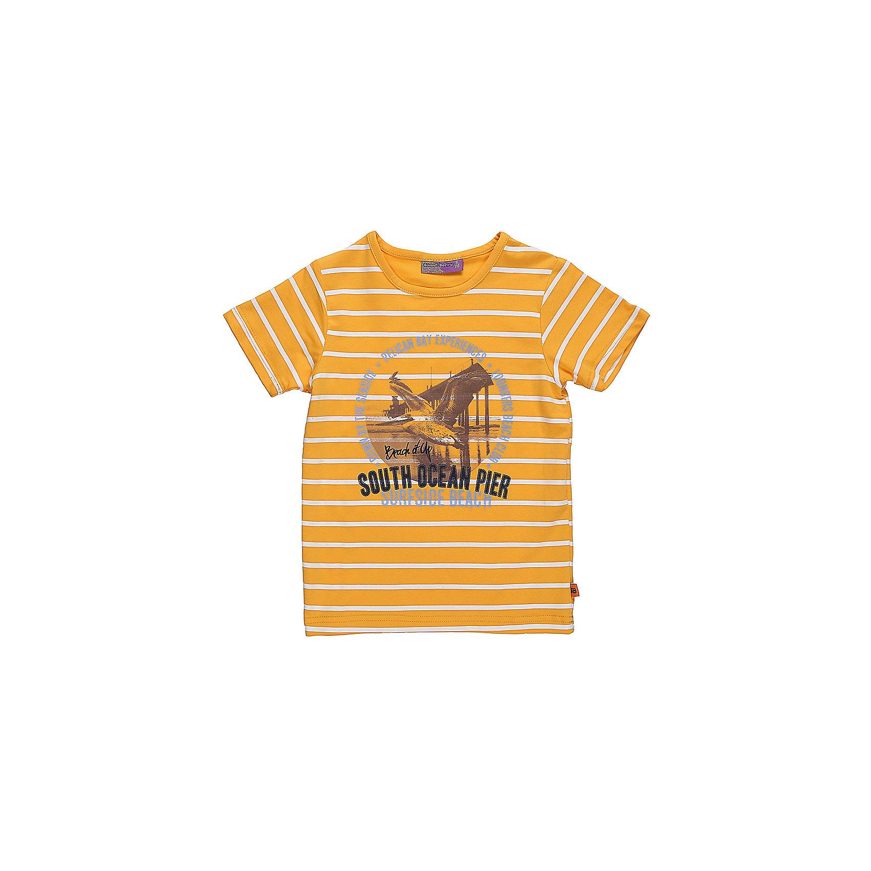 Футболка для мальчика Sweet BerryФутболки, поло и топы<br>Яркая футболка из трикотажной, мягкой ткани для мальчика с коротким рукавом. Декорирована оригинальным принтом.<br>Состав:<br>95%хлопок 5%эластан<br><br>Ширина мм: 199<br>Глубина мм: 10<br>Высота мм: 161<br>Вес г: 151<br>Цвет: разноцветный<br>Возраст от месяцев: 36<br>Возраст до месяцев: 48<br>Пол: Мужской<br>Возраст: Детский<br>Размер: 104,98,110,116,122,128<br>SKU: 5410354