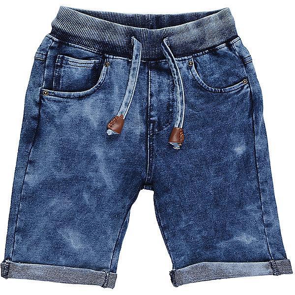 Шорты джинсовые для мальчика Sweet BerryШорты, бриджи, капри<br>Мягкие, трикотажные шорты с отворотом для мальчика. Спереди два прорезных кармана. Пояс-резинка дополнен шнуром для регулирования объема.<br>Состав:<br>95%хлопок 5%эластан<br>Ширина мм: 191; Глубина мм: 10; Высота мм: 175; Вес г: 273; Цвет: синий; Возраст от месяцев: 24; Возраст до месяцев: 36; Пол: Мужской; Возраст: Детский; Размер: 98,104,128,122,116,110; SKU: 5410491;