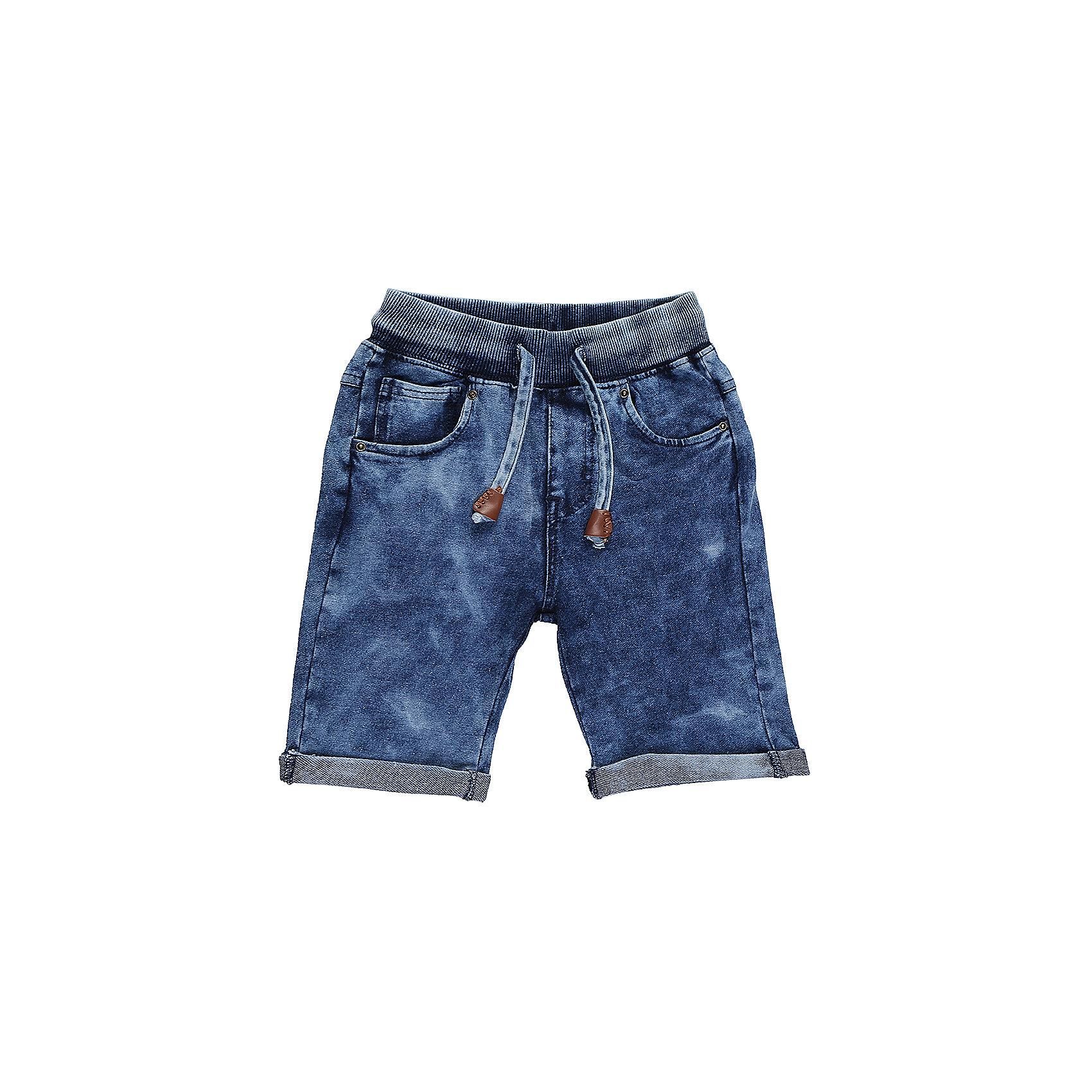 Шорты джинсовые для мальчика Sweet BerryШорты, бриджи, капри<br>Мягкие, трикотажные шорты с отворотом для мальчика. Спереди два прорезных кармана. Пояс-резинка дополнен шнуром для регулирования объема.<br>Состав:<br>95%хлопок 5%эластан<br><br>Ширина мм: 191<br>Глубина мм: 10<br>Высота мм: 175<br>Вес г: 273<br>Цвет: синий<br>Возраст от месяцев: 36<br>Возраст до месяцев: 48<br>Пол: Мужской<br>Возраст: Детский<br>Размер: 104,98,110,116,122,128<br>SKU: 5410491