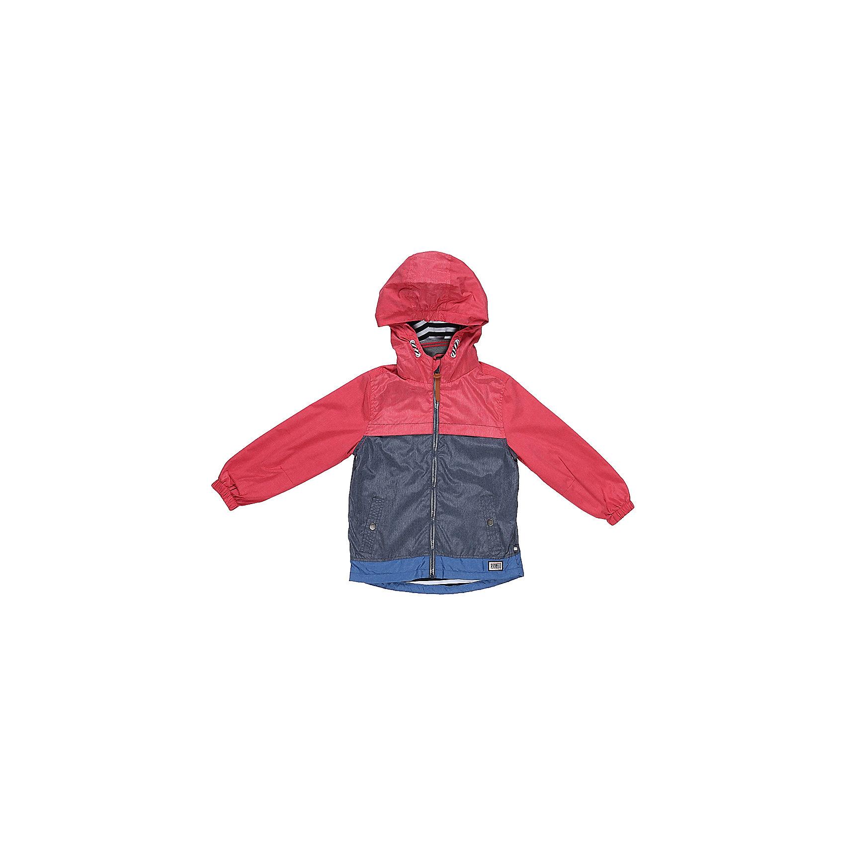 Ветровка для мальчика Sweet BerryВерхняя одежда<br>Стильная, ветровка оригинально сочетает в себе три цвета. С хлопковой подкладкой. Модель с двумя удобными карманами. Капюшон с дополнительной утяжкой. Рукава собраны на мягкую резинку. Комфортная температура эксплуатации от +10 С и выше.<br>Состав:<br>Верх: 75%нейлон, 25%полиэстер.  Подкладка: 100%хлопок.<br><br>Ширина мм: 356<br>Глубина мм: 10<br>Высота мм: 245<br>Вес г: 519<br>Цвет: красный<br>Возраст от месяцев: 36<br>Возраст до месяцев: 48<br>Пол: Мужской<br>Возраст: Детский<br>Размер: 104,98,110,116,122,128<br>SKU: 5410602
