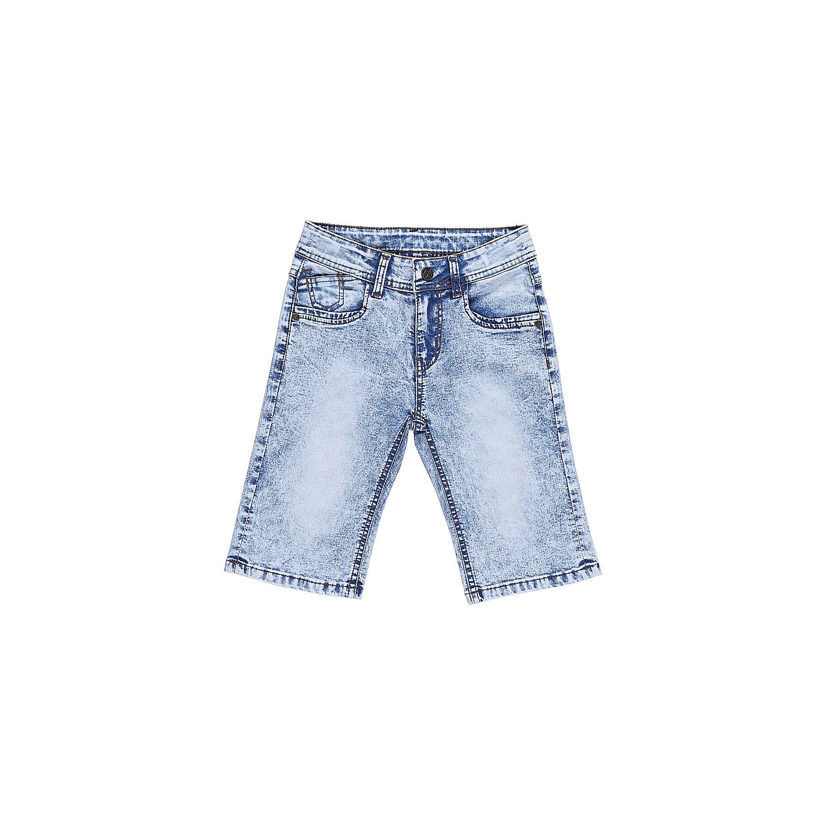 Бриджи джинсовые для мальчика Sweet BerryДжинсовая одежда<br>Джинсовые бриджи для мальчика с оригинальной варкой. Застегиваются на молнию и пуговицу. Имеют зауженный крой, среднюю посадку. Шлевки на поясе рассчитаны под ремень. В боковой части пояса находятся вшитые эластичные ленты, регулирующие посадку по талии.<br>Состав:<br>98%хлопок 2%эластан<br><br>Ширина мм: 191<br>Глубина мм: 10<br>Высота мм: 175<br>Вес г: 273<br>Цвет: голубой<br>Возраст от месяцев: 24<br>Возраст до месяцев: 36<br>Пол: Мужской<br>Возраст: Детский<br>Размер: 98,104,110,116,122,128<br>SKU: 5410797