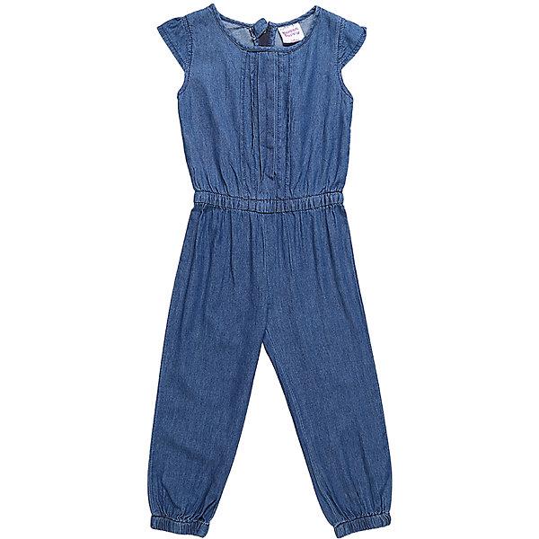 Комбинезон джинсовый для девочки Sweet BerryДжинсовая одежда<br>Комбинезон из тонкой хлопковой ткани под джинсу для девочки. Рукава крылышки. Талия собрана на мягкую резинку, по низу брючины оформлены манжетами. Застежка-молния на спинке.<br>Состав:<br>100%хлопок<br>Ширина мм: 215; Глубина мм: 88; Высота мм: 191; Вес г: 336; Цвет: синий; Возраст от месяцев: 12; Возраст до месяцев: 18; Пол: Женский; Возраст: Детский; Размер: 86,80,98,92; SKU: 5410882;