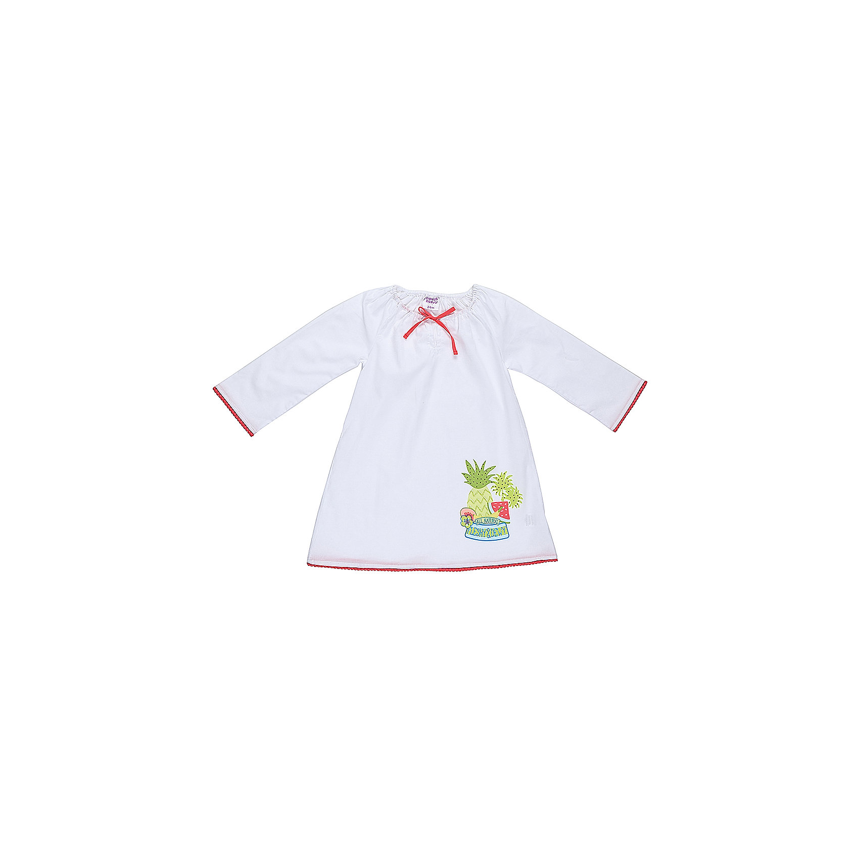 Платье для девочки Sweet BerryПлатья<br>Хлопковое платье-туника для жаркого лета. Декориованно ярким принтом по низу изделия.<br>Состав:<br>100% хлопок<br><br>Ширина мм: 236<br>Глубина мм: 16<br>Высота мм: 184<br>Вес г: 177<br>Цвет: белый<br>Возраст от месяцев: 24<br>Возраст до месяцев: 36<br>Пол: Женский<br>Возраст: Детский<br>Размер: 98,92,86,80<br>SKU: 5410899