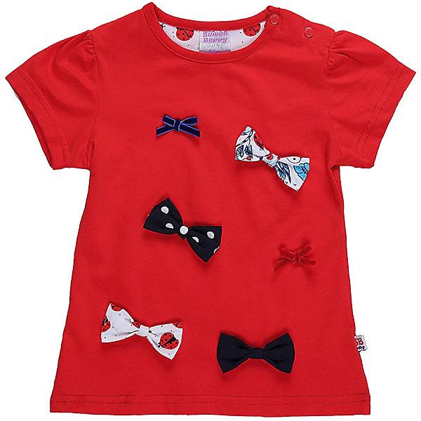 Футболка для девочки Sweet BerryФутболки, топы<br>Яркая трикотажная футболка для девочки декорированная оригинальными бантиками. Застежка-кнопочки на плече.<br>Состав:<br>95%хлопок 5%эластан<br><br>Ширина мм: 199<br>Глубина мм: 10<br>Высота мм: 161<br>Вес г: 151<br>Цвет: белый<br>Возраст от месяцев: 12<br>Возраст до месяцев: 18<br>Пол: Женский<br>Возраст: Детский<br>Размер: 86,80,98,92<br>SKU: 5410988