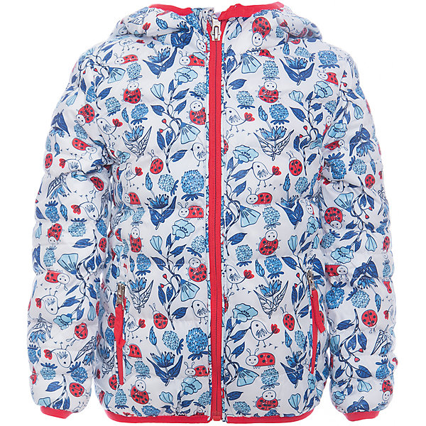Куртка для девочки Sweet BerryВерхняя одежда<br>Утепленная, стеганая куртка с оригинальным принтом для девочки. Цельнокроеный капюшон, два прорезных карманы на молнии. Капюшон и  рукава оформлены контрастной окантовочной резинкой.<br>Состав:<br>Верх: 100%полиэстер. Подкладка: 65%хлопок 35%полиэстер. Наполнитель: 100%полиэстер<br><br>Ширина мм: 356<br>Глубина мм: 10<br>Высота мм: 245<br>Вес г: 519<br>Цвет: белый<br>Возраст от месяцев: 12<br>Возраст до месяцев: 18<br>Пол: Женский<br>Возраст: Детский<br>Размер: 80,98,92,86<br>SKU: 5411003