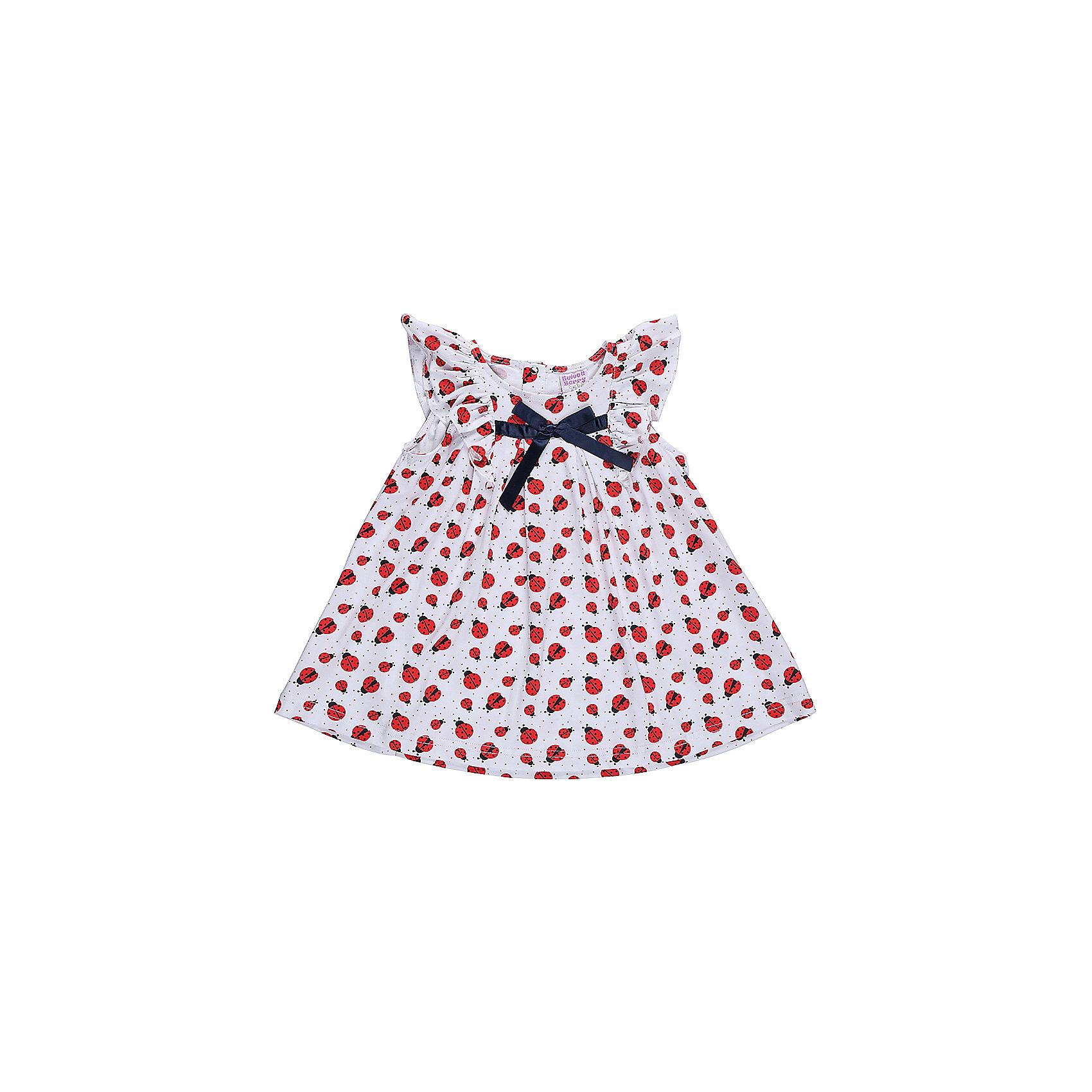 Футболка для девочки Sweet BerryФутболки, топы<br>Хлопковое платье для девочки. Оригинальная принтованная ткань. Свободный крой.<br>Состав:<br>95%хлопок 5%эластан<br><br>Ширина мм: 199<br>Глубина мм: 10<br>Высота мм: 161<br>Вес г: 151<br>Цвет: белый<br>Возраст от месяцев: 12<br>Возраст до месяцев: 15<br>Пол: Женский<br>Возраст: Детский<br>Размер: 80,86,92,98<br>SKU: 5411023