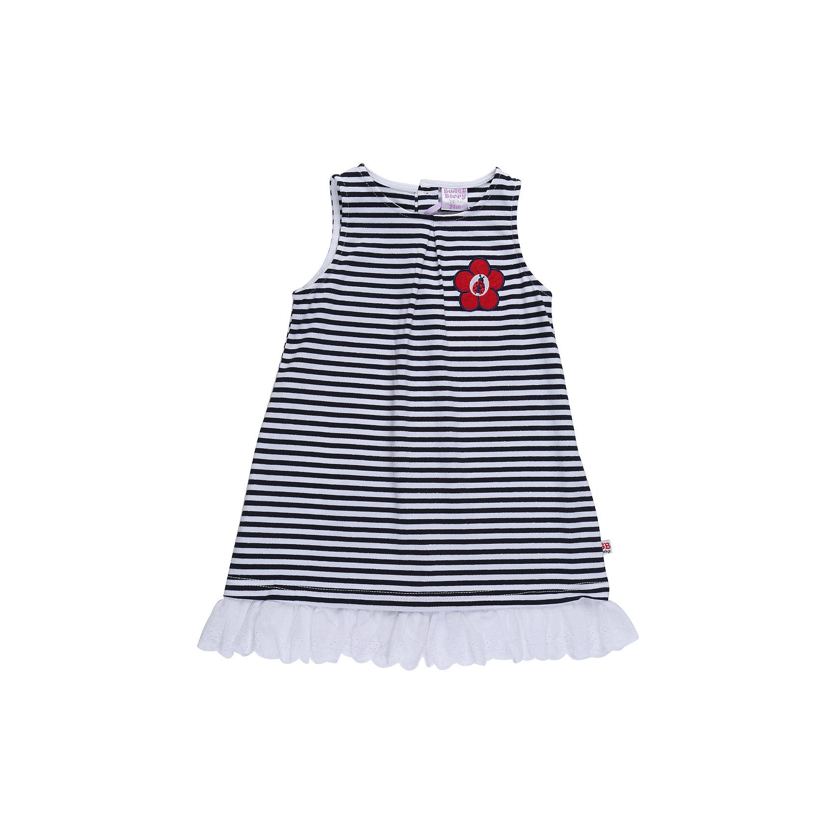 Платье для девочки Sweet BerryПлатья<br>Сарафан А-образного силуэта из трикотажного полотна для девочки. Низ декорирован кружевом.<br>Состав:<br>95%хлопок 5%эластан<br><br>Ширина мм: 236<br>Глубина мм: 16<br>Высота мм: 184<br>Вес г: 177<br>Цвет: разноцветный<br>Возраст от месяцев: 24<br>Возраст до месяцев: 36<br>Пол: Женский<br>Возраст: Детский<br>Размер: 98,80,86,92<br>SKU: 5411038