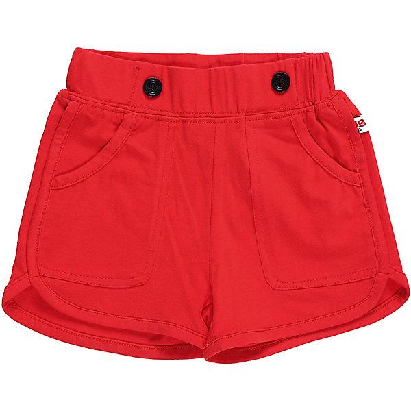 Шорты для девочки Sweet BerryШорты, бриджи, капри<br>Трикотажные короткие шорты красного цвета для девочки.  Спереди два больших накладных  кармана. Эластичный пояс.<br>Состав:<br>95%хлопок 5%эластан<br>Ширина мм: 191; Глубина мм: 10; Высота мм: 175; Вес г: 273; Цвет: красный; Возраст от месяцев: 12; Возраст до месяцев: 15; Пол: Женский; Возраст: Детский; Размер: 80,86,98,92; SKU: 5411073;