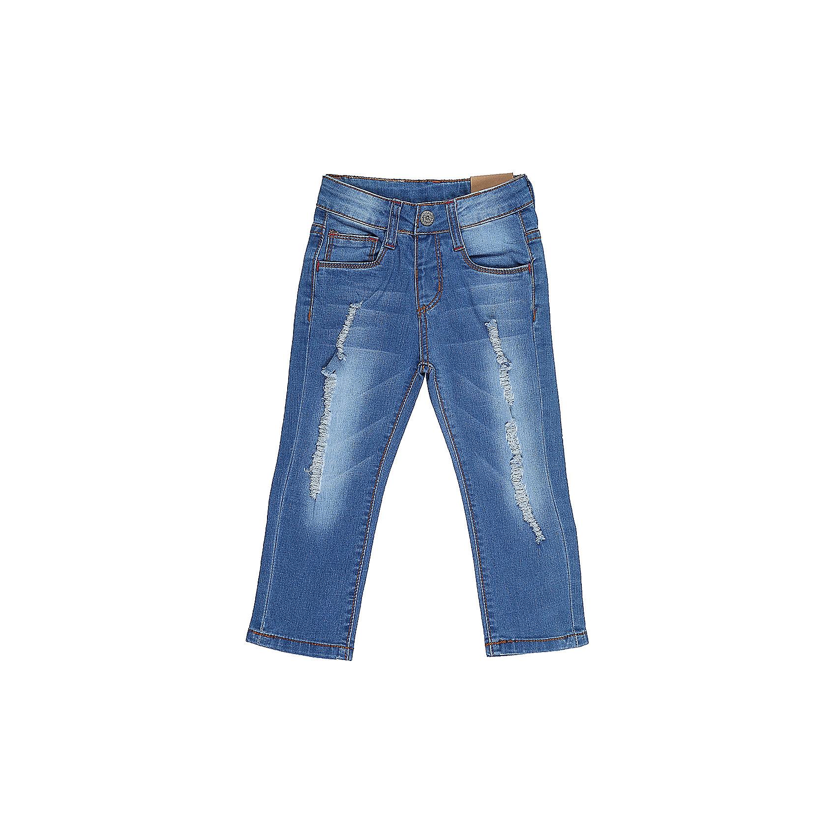 Джинсы для девочки Sweet BerryДжинсовая одежда<br>Джинсы  для девочки из хлопковой ткани, декорированы потертостями и эффектом рванной джинсы. Зауженный крой, средняя посадка. Застегиваются на молнию и крючок. Шлевки на поясе рассчитаны под ремень. В боковой части пояса находятся вшитые эластичные ленты, регулирующие посадку по талии.<br>Состав:<br>98%хлопок 2%эластан<br><br>Ширина мм: 215<br>Глубина мм: 88<br>Высота мм: 191<br>Вес г: 336<br>Цвет: синий<br>Возраст от месяцев: 12<br>Возраст до месяцев: 18<br>Пол: Женский<br>Возраст: Детский<br>Размер: 86,80,98,92<br>SKU: 5411120