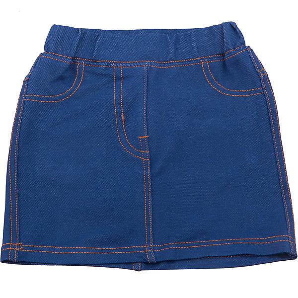 Юбка джинсовая для девочки Sweet BerryДжинсовая одежда<br>Трикотажная юбка для девочки под Джинсу. Пояс на резинке. Контрастная отстрочка. Сзади два накладных кармана.<br>Состав:<br>95%хлопок 5%эластан<br>Ширина мм: 207; Глубина мм: 10; Высота мм: 189; Вес г: 183; Цвет: синий; Возраст от месяцев: 12; Возраст до месяцев: 15; Пол: Женский; Возраст: Детский; Размер: 80,86,98,92; SKU: 5411193;