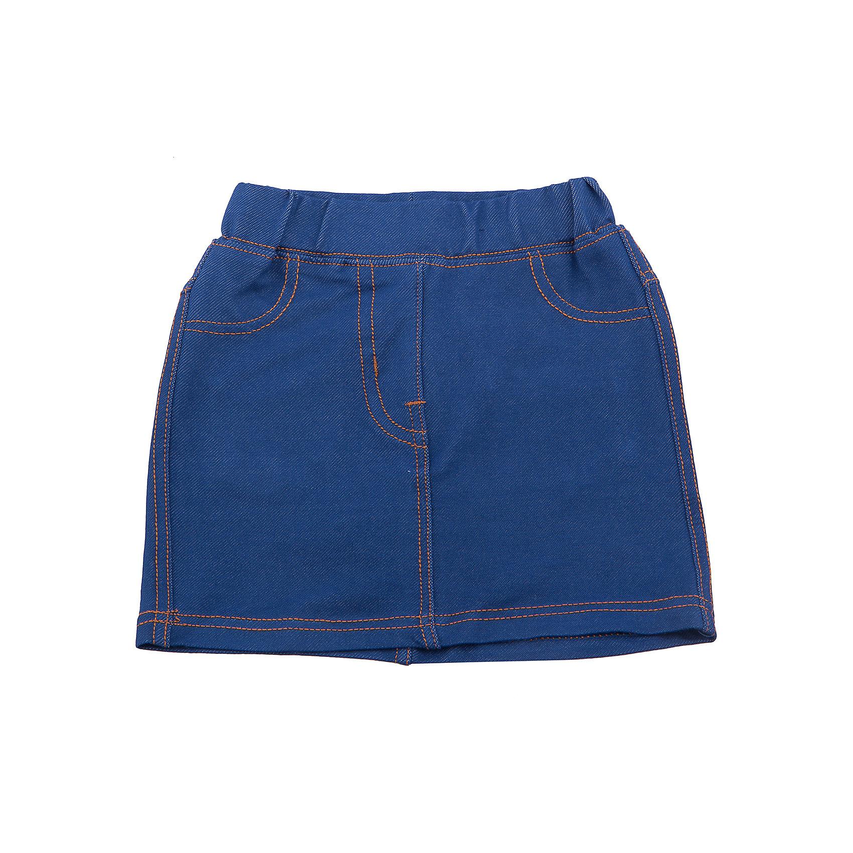 Юбка джинсовая для девочки Sweet BerryДжинсовый бум<br>Трикотажная юбка для девочки под Джинсу. Пояс на резинке. Контрастная отстрочка. Сзади два накладных кармана.<br>Состав:<br>95%хлопок 5%эластан<br><br>Ширина мм: 207<br>Глубина мм: 10<br>Высота мм: 189<br>Вес г: 183<br>Цвет: синий<br>Возраст от месяцев: 12<br>Возраст до месяцев: 15<br>Пол: Женский<br>Возраст: Детский<br>Размер: 80,86,92,98<br>SKU: 5411193