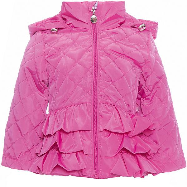 Куртка для девочки Sweet BerryВерхняя одежда<br>Стильная, стеганая куртка для девочки. Застегивается на молнию.  Капюшон с дополнительной утяжкой. Низ куртки декорирован объемными воланами.<br>Состав:<br>Верх: 100%полиэстер. Подкладка: 65%хлопок 35%полиэстер. Наполнитель: 100%полиэстер<br>Ширина мм: 356; Глубина мм: 10; Высота мм: 245; Вес г: 519; Цвет: лиловый; Возраст от месяцев: 12; Возраст до месяцев: 18; Пол: Женский; Возраст: Детский; Размер: 86,80,98,92; SKU: 5411222;